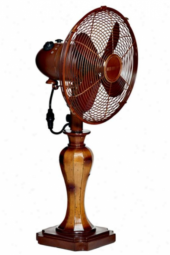 """sambuca Oscillating Fan - Table 10""""d, Brown"""