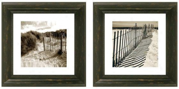 Sand Dunes Framed Wall Art - Set Of 2 - Set Of Tw0, Black