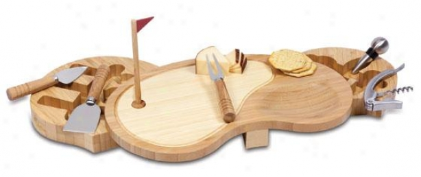 """""""sand Trap Cheese Tray Regular - 2h X 15w X 9""""""""d, Natural Wood"""""""