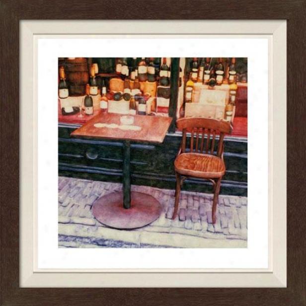 """santo Framed Wall Art - 30""""hx30""""w, Fltd Espresso"""
