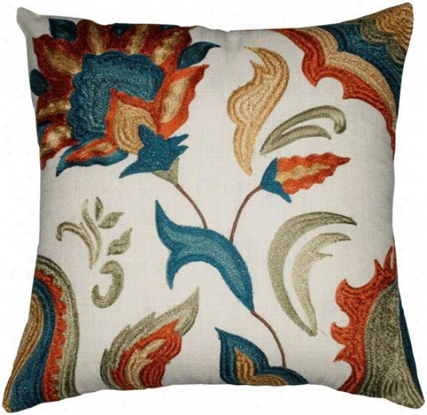 """saratoga Pillow - 18""""x18"""", Ivory"""
