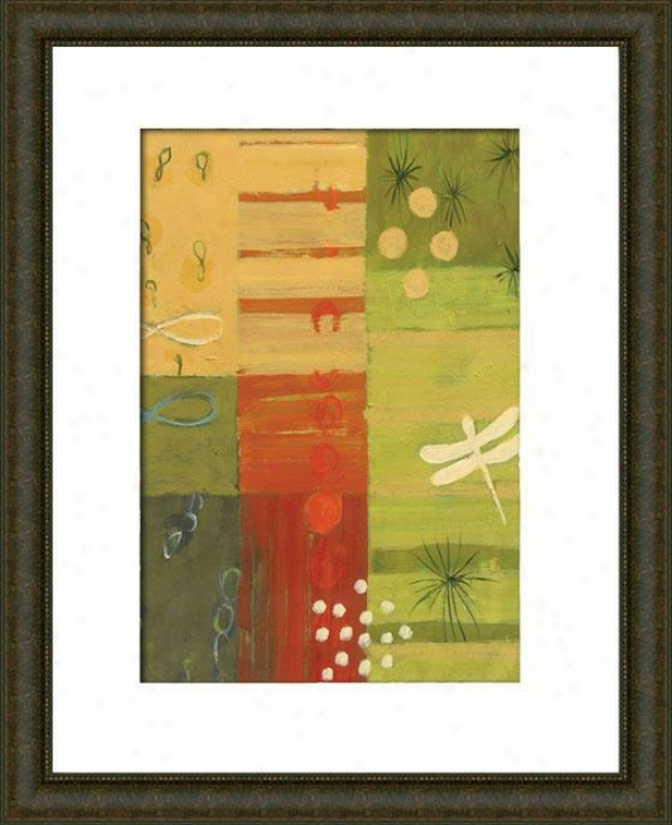 Savannah Ii Framed Wall Art - Ii, Matted Burlwood