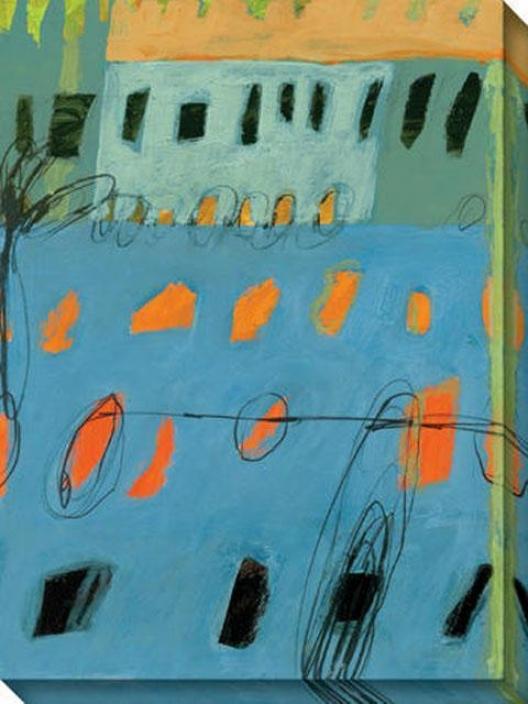 Sea I Canvas Wall Art - I, Blue