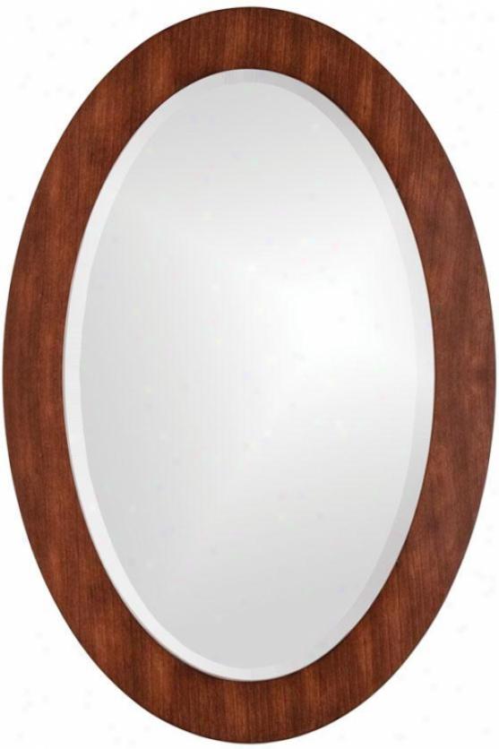 """""""sean Oval Mirror - 36""""""""hx24""""""""wx1""""""""d, Tan"""""""