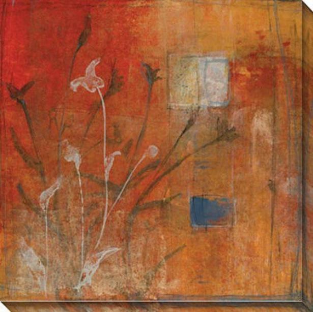 Season I Canvas Wall Art - I, Red