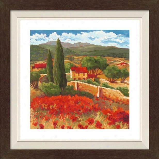 Season In Red I Framed Wall Art - I, Fltd Espresso