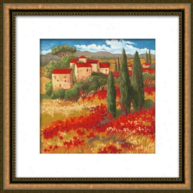 Prepare In Red Ii Framed Wall Art - Ii, Matted Gold