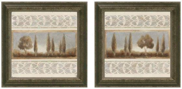 Seasonal Escape Framed Wall Art - Set Of 2 - Set Of Tw0, Gray