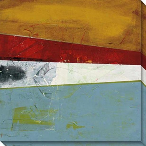 Semblance Iii Canvas Wall Art - Iii, Red