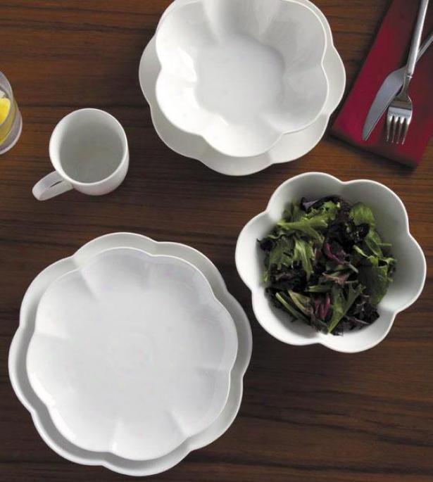Serendra 16-piece Dinnerware Set - 16 Pieec Set, White