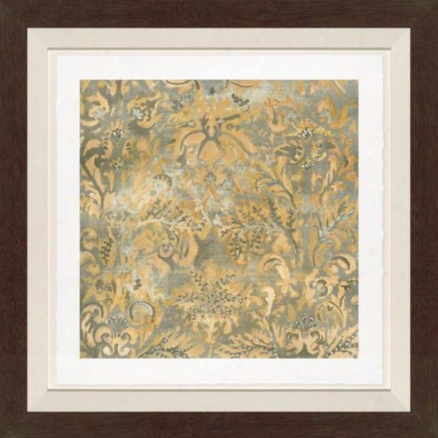 Serene Sensibility I Wall Wart - B1ack Frame, Multi