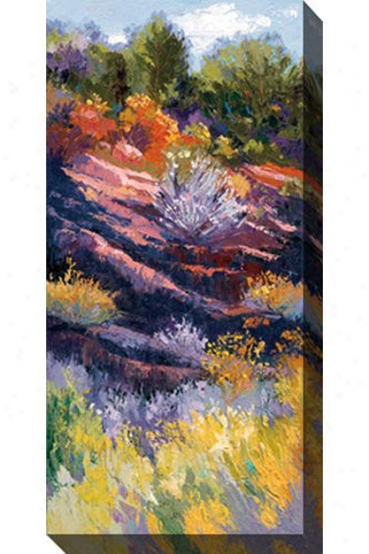Shadows On The Hill Ii Canvas Wall Art - Ik, Pastel