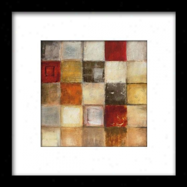 Shapes Of Good Fortune Ii Framed Wall Art - Ii, Matted Black