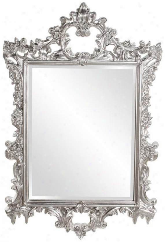 Sherman Wall Mirrof - 31hx47w, Silvery