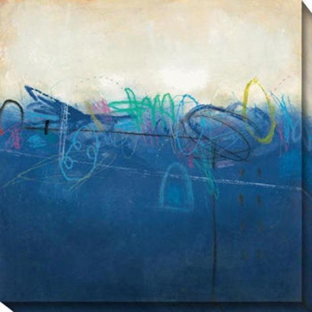 Shifting Sand Iii Canvas Wall Art - Iii, Blue