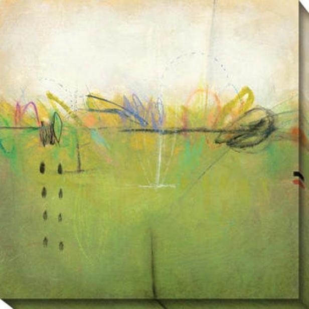 Shifting Sand Iv Canvas Wall Art - Iv, Green
