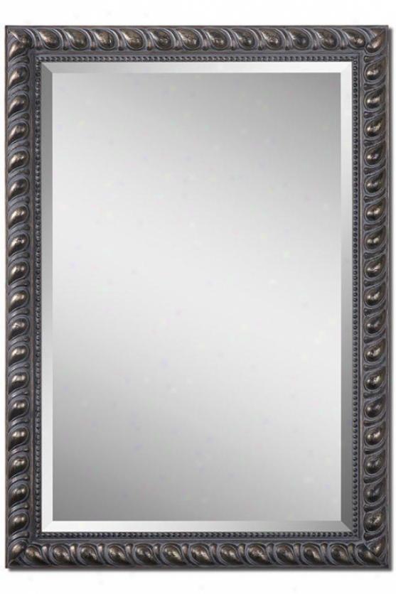 Sibyl Wall Mirror - 41hx29wx2d, Gray