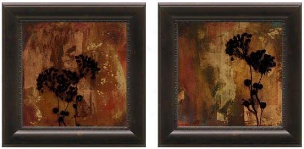 Sienna Framed Wall Art - Set Of 2 - Suit Of Pair, Brown