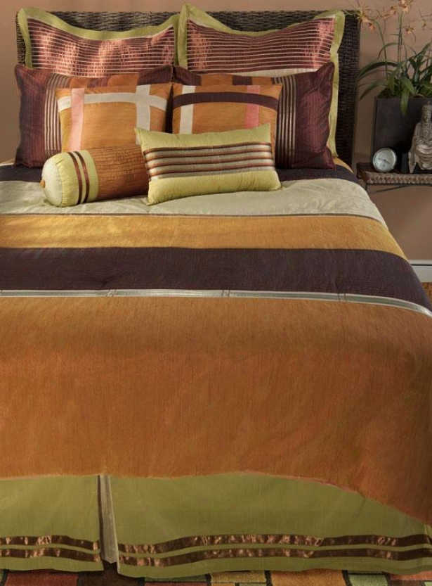 Siesta Bedding Set - King 11pc S3t, Orange Multi