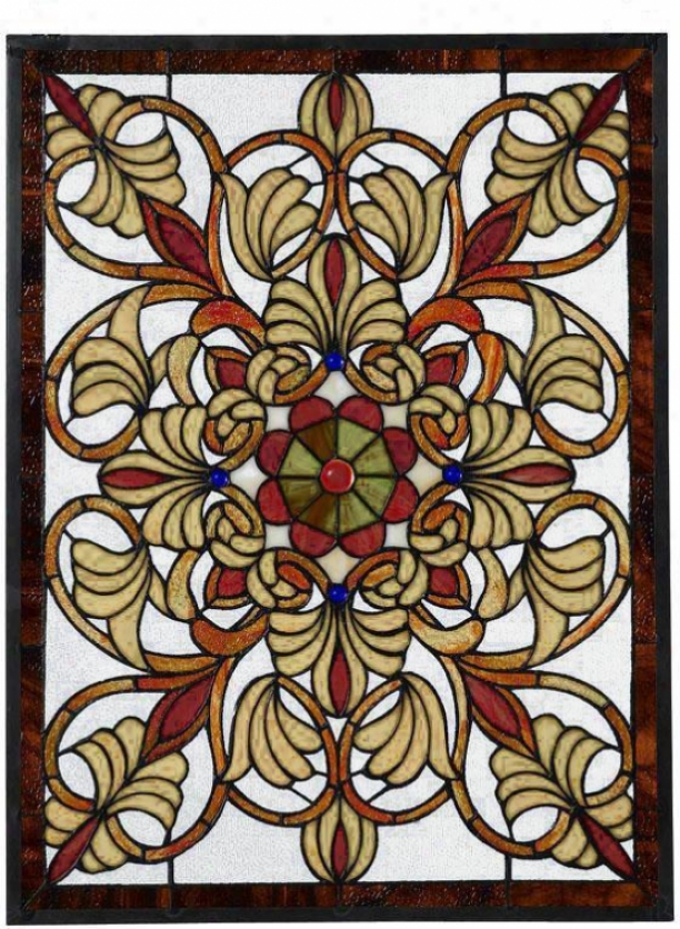 Signet Medium Rectangular Tiffany-style Art Glass - Med. Rectangula, Multi