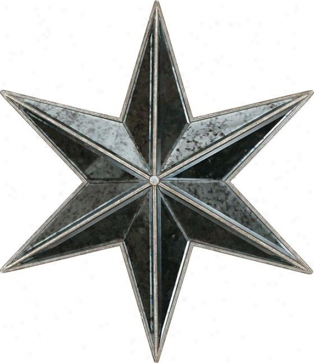 Silver Stars Mirrors - Set Of 3 - Set Of Three, Silver