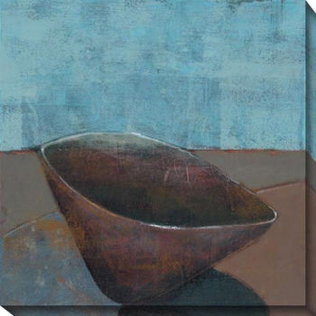 """sky Bowl Canvas Wall Art - 40""""hx40""""w, Blue"""
