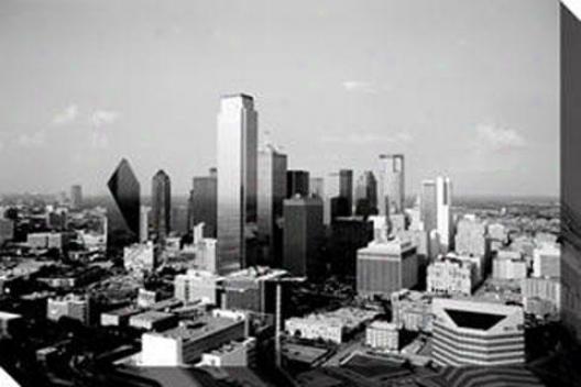 """""""skylone Dallas Canvas Wall Art - 32""""""""hx48""""""""w, Black"""""""