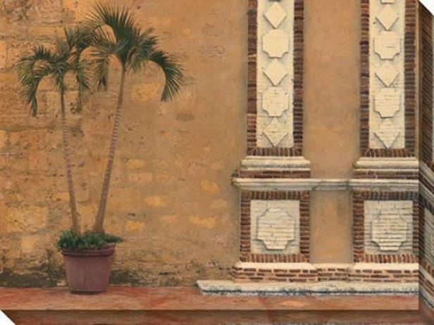 Solitary Palm Iii Canvas Wall Art - Iii, Gold