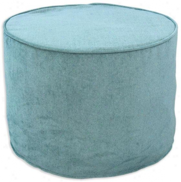 Sparkler Collection Ottoman - Ottoman Crd Rnd, Energy Sky