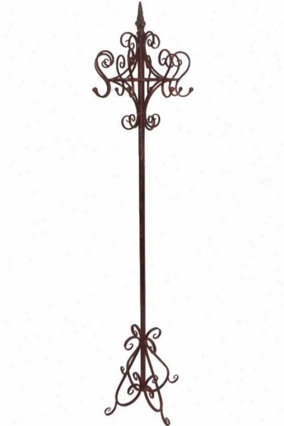 """spartacus Coat Rack - 73h X 19""""round, Rustic Red"""