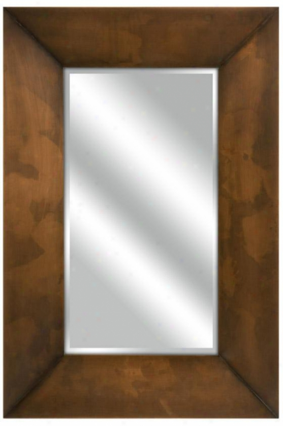 Spier Copper Plated Mirror - 35.5hx23.75w, Brown