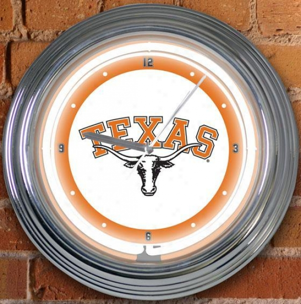 Sports Team College Neon Clock - College Teams Texas