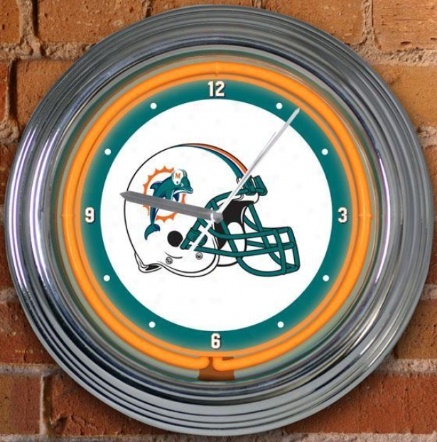 Sports Team Nfl Neon Clock - Nfl Teams, Turquoise Blue