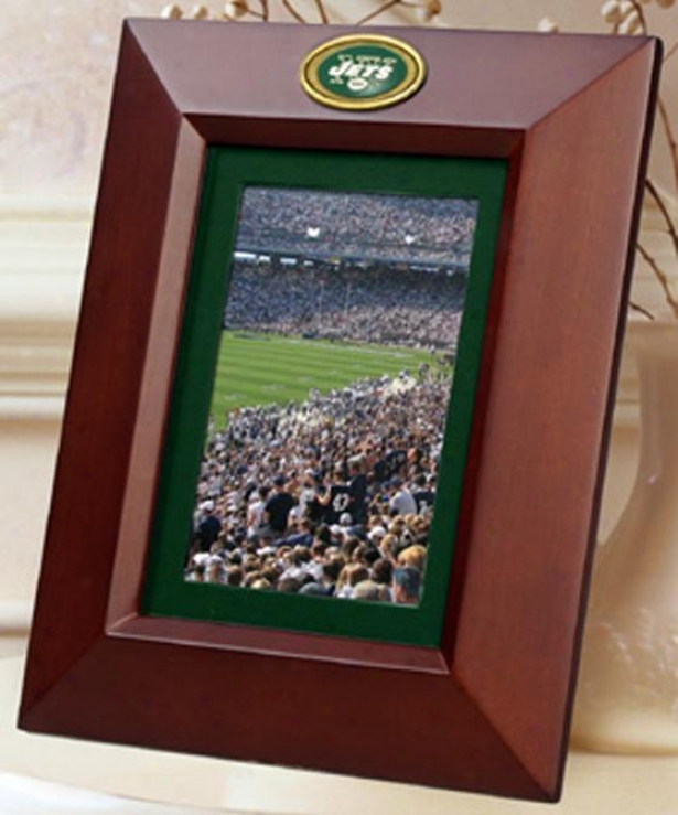 """sports Team Vertical Frame - 8""""hx10""""w, Jets"""