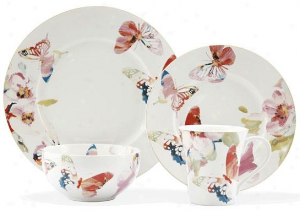 Issue with speed Beauty 16-piece Dinnerware Set - 16 Pc Set, White Multi