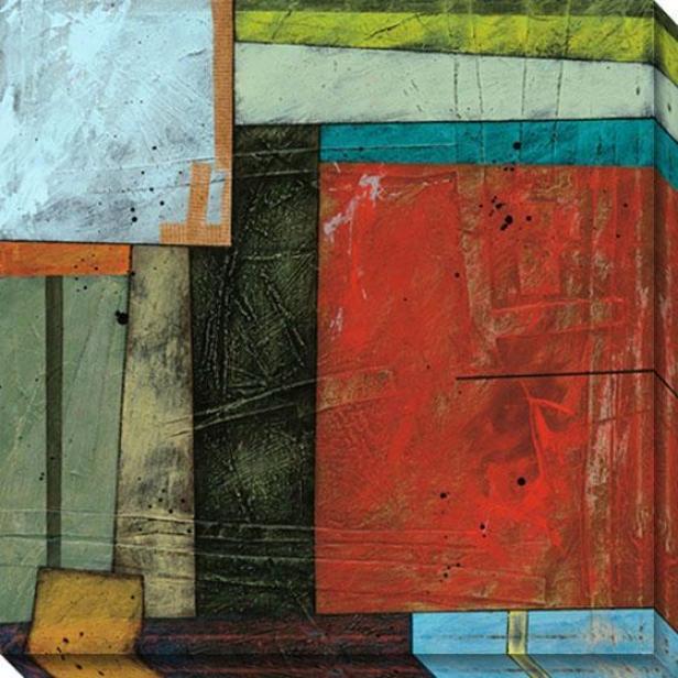 Spring Design Ii Canvas Wall Art - Ii, Red