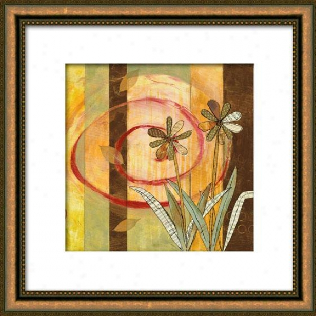 Spring Panel I Framed Wall Art - I, Matted Gold