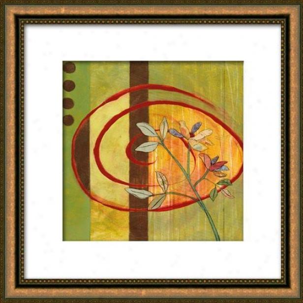 Spring Array Ii Framed Wall Art - Ii, Matted Gold