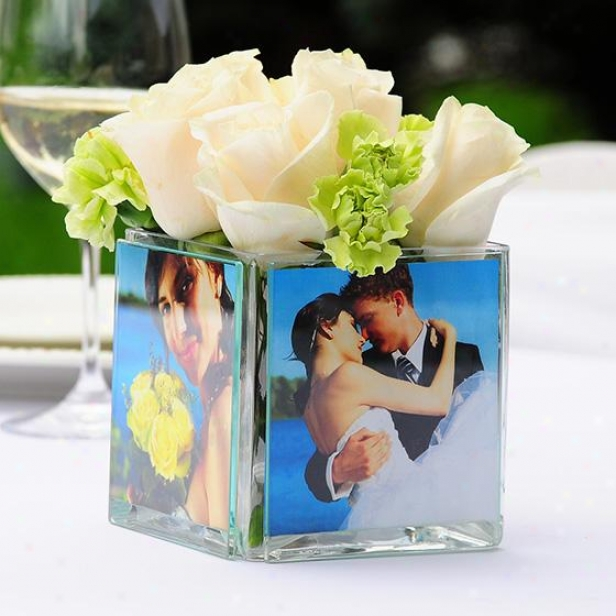 Square Glass Photo Frame - 4hx4w, Glass