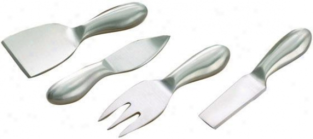 Unsullied 4-piece Cheese Utensil Set - Set Of 4, Silvery
