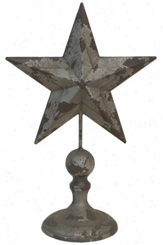 """star Finial - 13""""h, Silver"""