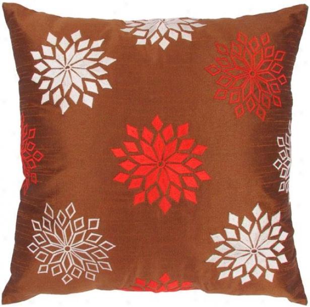"""starflake Decorative Pillow - 18""""x18"""", Brown"""