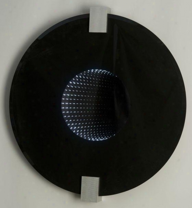 """stealth Mirror - Round 36""""d, Black"""