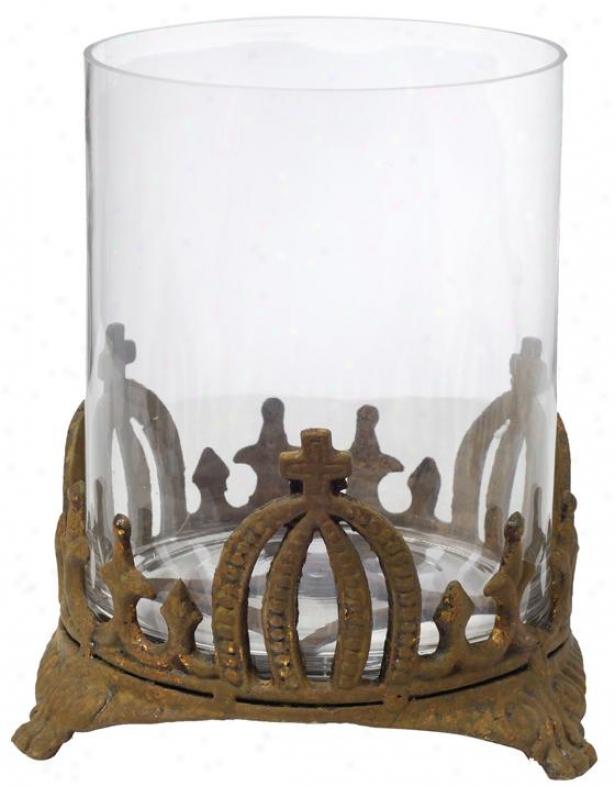 """stefan Candleholder - Large 9.5x11"""", Rusty"""