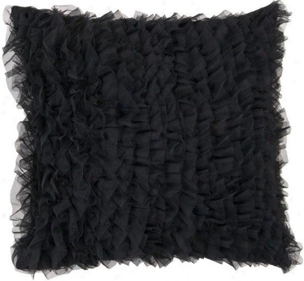 Stella Decorative Pillow - 18hx18w Down, Black
