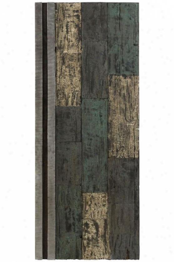 """""""stellar Recycled Wood aWll Panel - 40""""""""hx1""""""""w, Gray"""""""