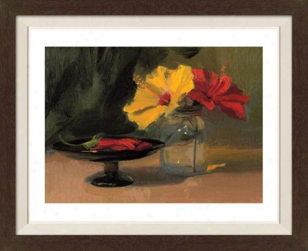 Still Life With Flowers Iii Framed Wall Art - Iii, Fltd Espresso