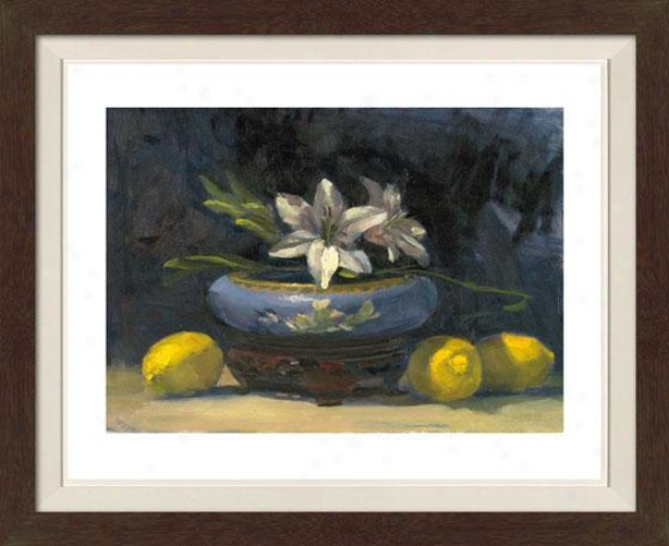 Still Life With Fowers Iv Framed Wall Art - Iv, Matted Burlwood