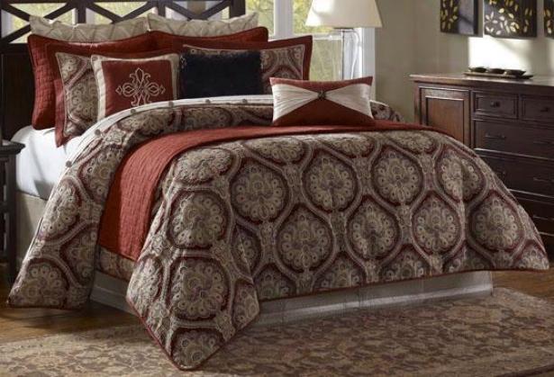 Stonebridge Ii Comforter Swt - Queen 9pc Set, Brick Red
