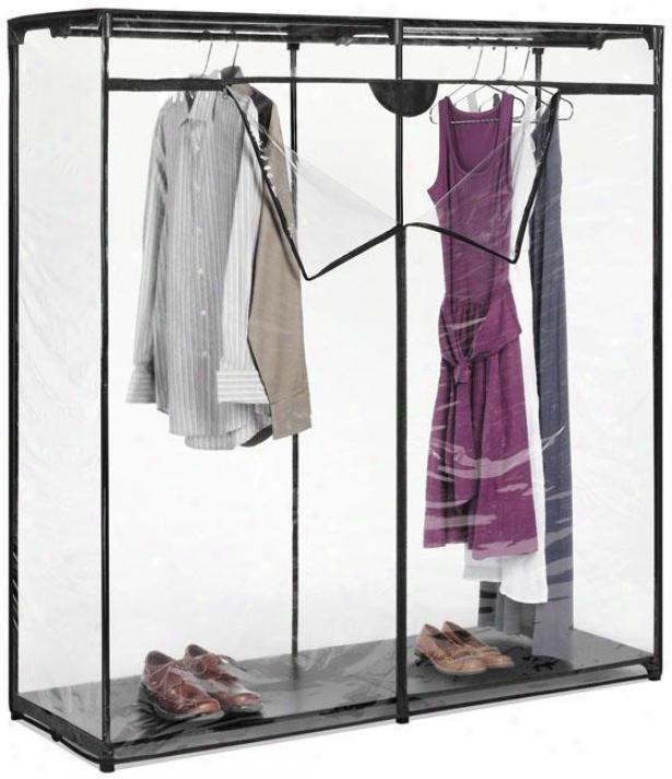 """""""storage Ebony Crystzl Closet - 64""""""""hx60""""""""w, Black"""""""